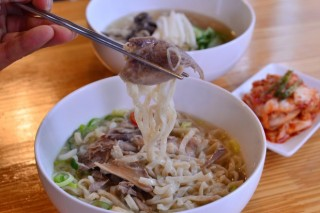 Korean chicken noodle soup at Woo Hyung-joon Rice Mill