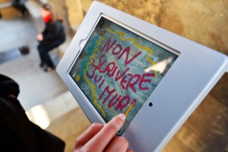 Itching to graffiti? Do it digitally on Florence treasures