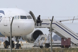 Egyptian plane hijacked, forced to land in Cyrus