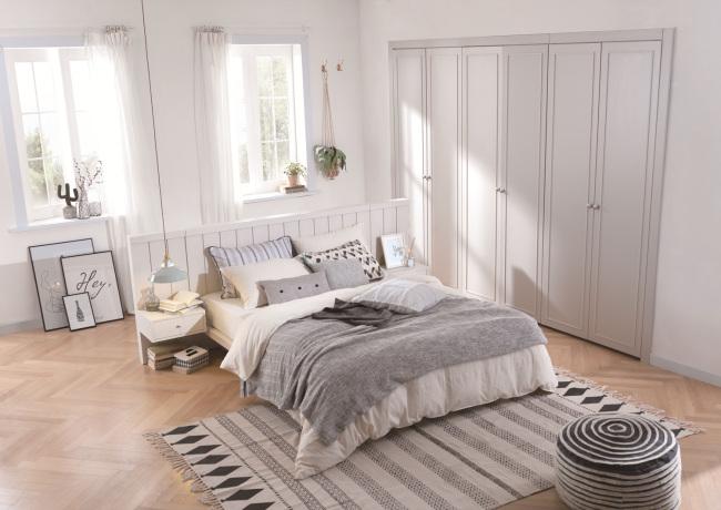 현대리바트, 침실 '그레이' 회색톤 깔끔한 집안 연출  헤럴드 ...