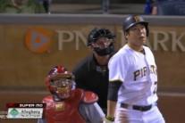 강정호 2년 연속 15호 홈런…2안타 2타점