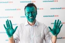 러시아에서 초록색 얼굴 셀카 유행하는 이유는?