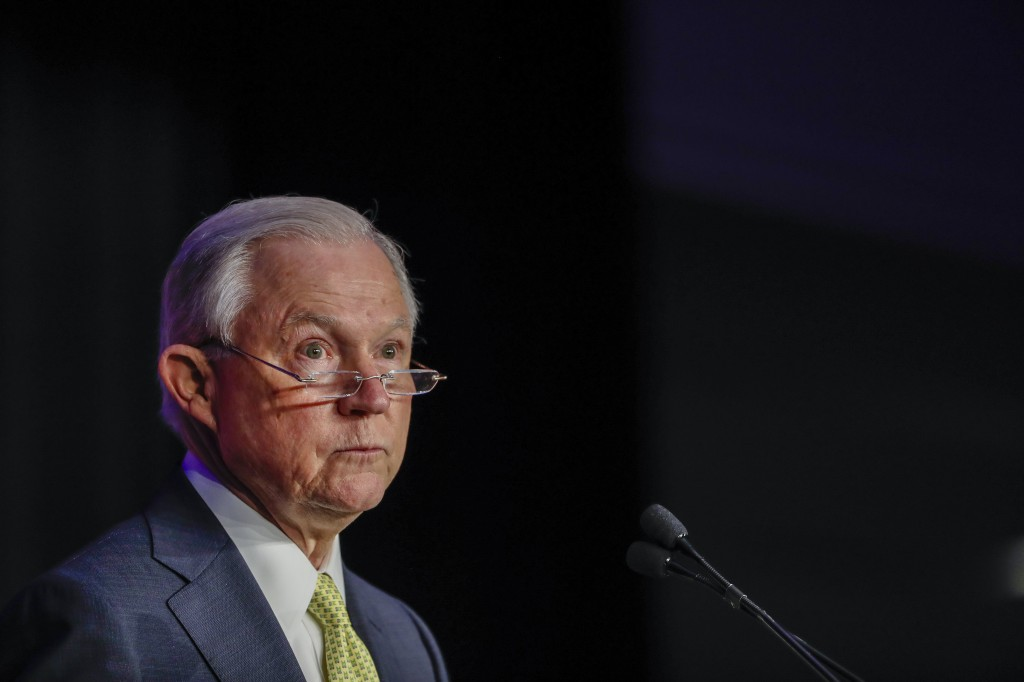 US Attorney General Jeff Sessions speaks in Atlanta, Georgia, USA