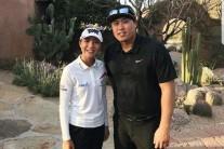 리디아 고, 류현진과 함께 골프 치고 기념사진 '찰칵'