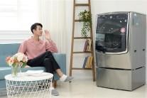날씨 맞춰 세탁…LG 음성인식 트롬 씽큐 드럼세탁기