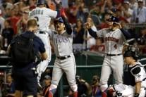 추신수, 한국타자 첫 안타 득점… MLB 올스타전 8회 대타