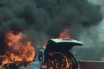 이번엔 서해안고속도로 달리던 스포티지서 불