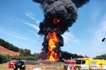 고양 송유관공사 휘발유탱크 폭발화재…인명피해 없어