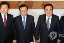 여야 5당 대표 '선거제 개혁·예산안 처리' 연계 놓고 신경전