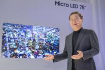 [CES 2019] 삼성 75형 마이크로 LED 세계 최초 공개…구글ㆍ아마존ㆍ애플 '적과의 동침'