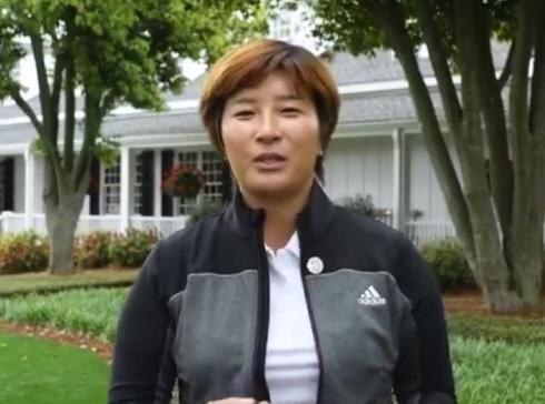박세리가 7일 오거스타내셔널에서 열리는 ANWA의 명예시타자로 나서는 소감을 말하고 있다. [사진=ANWA facebook]