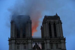 France Notre Dame Fire  (AP)