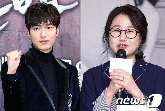 이민호(왼쪽) 김은숙 작가 © 뉴스1
