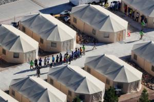 텍사스 멕시코 접경지역에 있는 이민자 수용시설[로이터=헤럴드경제]