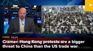 """""""홍콩사태가무역전쟁보다세계경제에더큰충격""""CNBC"""