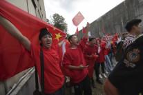해외거주 중국인 '친중 반홍콩'시위 확산…알리바바 홍콩상장 연기