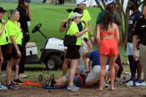 [속보] PGA투어챔피언십 경기중 낙뢰로 부상자 발생… 3라운드 경기중단