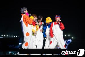 1세대 아이돌 H.O.T.의 2018년 10월 공연모습. [News1]