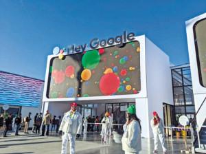 CES 야외 전시장에 자리잡은 '구글' 부스