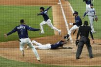 탬파베이, 9회말 끝내기로 다저스 8-7 제쳐…월드시리즈 2승2패